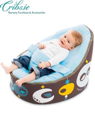Doomoo Baby Beanbag Seat Bird Blue Nursery Furniture