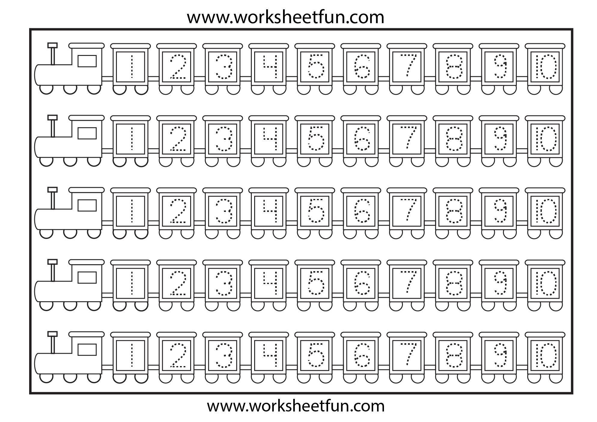 42 Printable Preschool Worksheets Numbers En