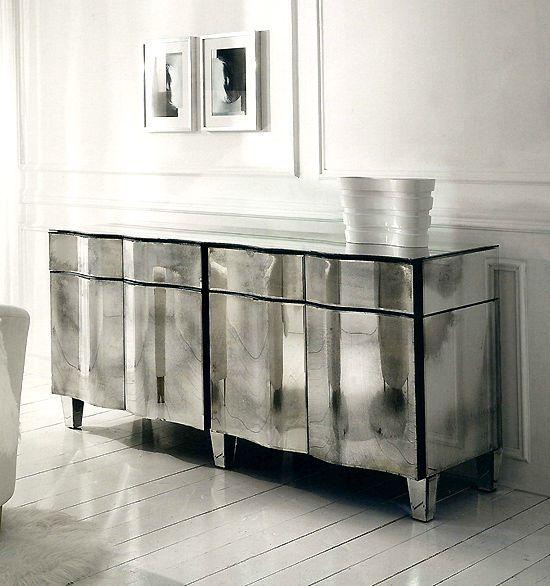 Venetian Glass Wave Sideboard Furniture Glass