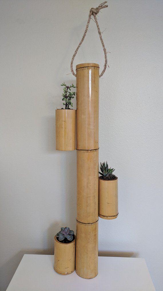Bamboo Succulent Planter In 2020 Succulent Planter Diy 400 x 300