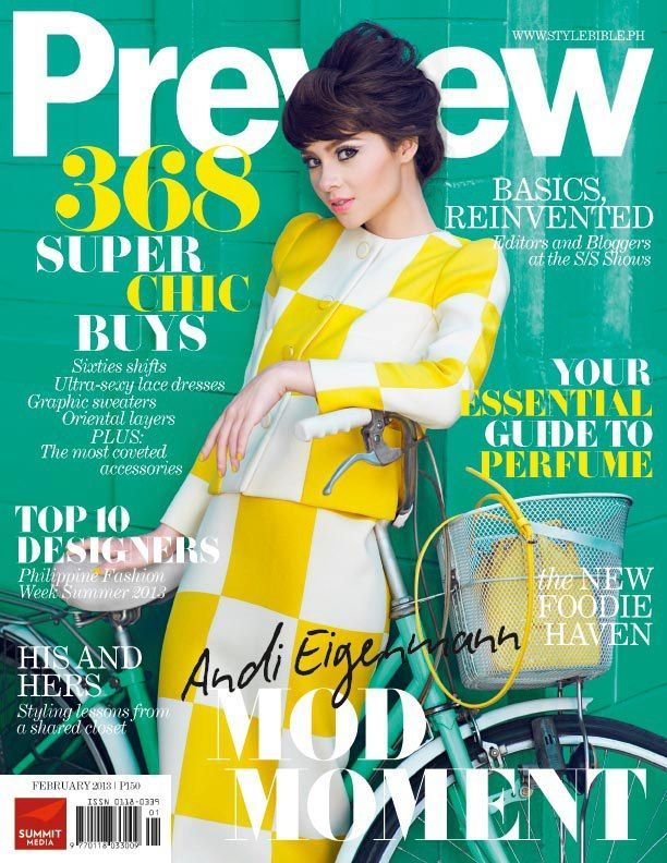 Preview Magazine [Philippines] (February 2013) Andi Eigenmann ...