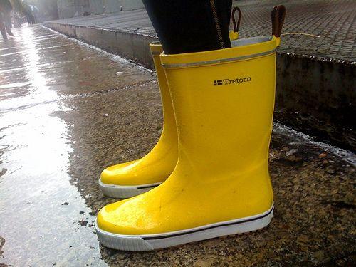 rain rain in yellow rain boots | Yellow
