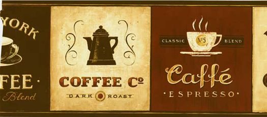 Beautiful Coffee Wallpaper Border Is On Sale Now At Scarbrough Faire. Our Coffee  Wallpaper Border Will Give Your Kitchen And Dining Areas The Look And  Warmth Of Your ...