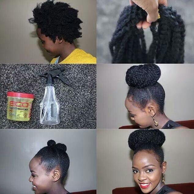 Marley Puff Marley Hair Natural Hair Updo Natural Hair Styles