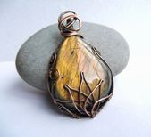 Photo of Your place to buy and sell all things handmade  Lotus Necklace Copper Wire Wrapp…