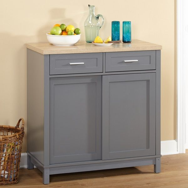 Simple Living Kennedy Sliding Doors Kitchen Cabinet ...