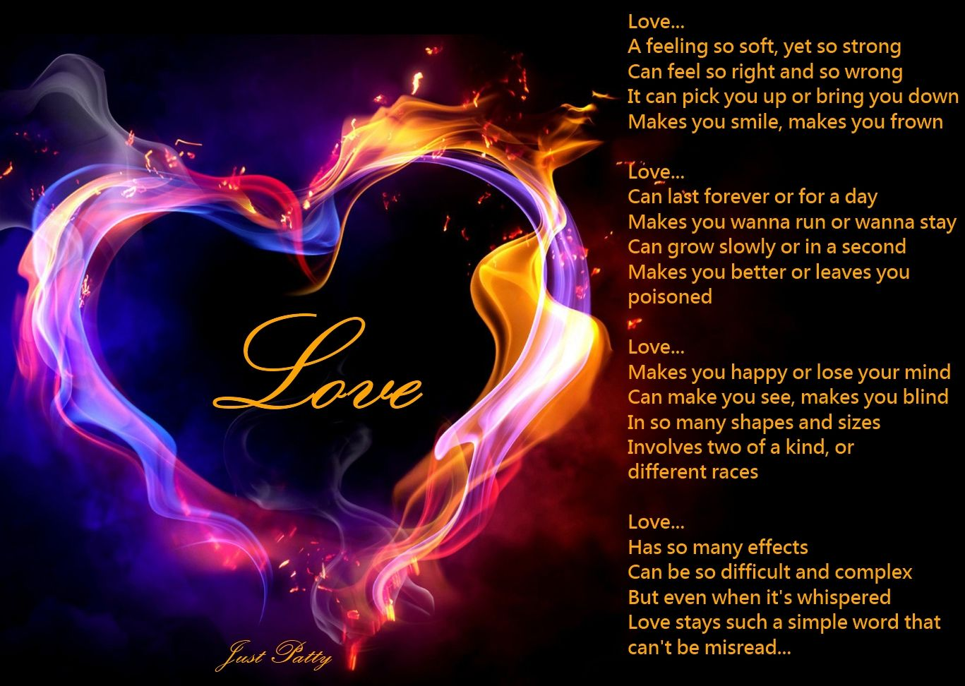 11 Awesome And Romantic Love Poems For Your Love Fire Heart