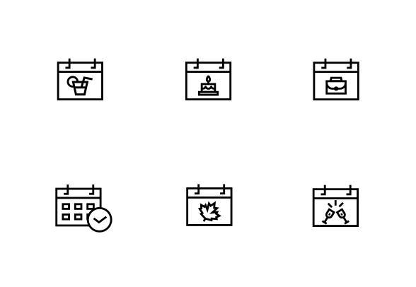 Events Lines Icons By Studio Vli Line Icon Icon Icon Illustration