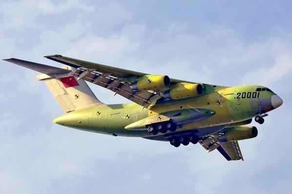 Xian Y-20, China's latest large military transport - via PJ de Jong