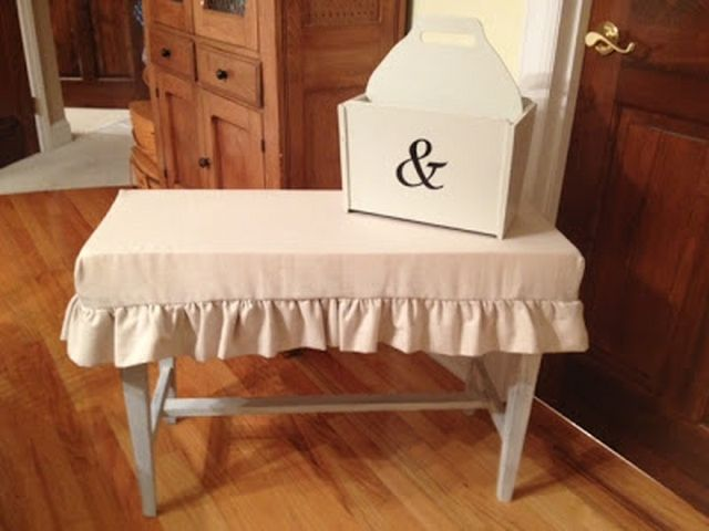 How To Make A Simple Bench Slipcover. Dining Bench ...
