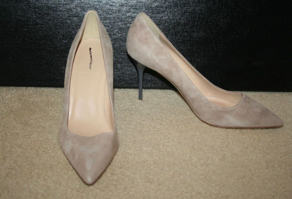 J.CREW ELSIE PUMPS WITH ENAMEL HEEL SIZE 7,5M KRAFT BROWN