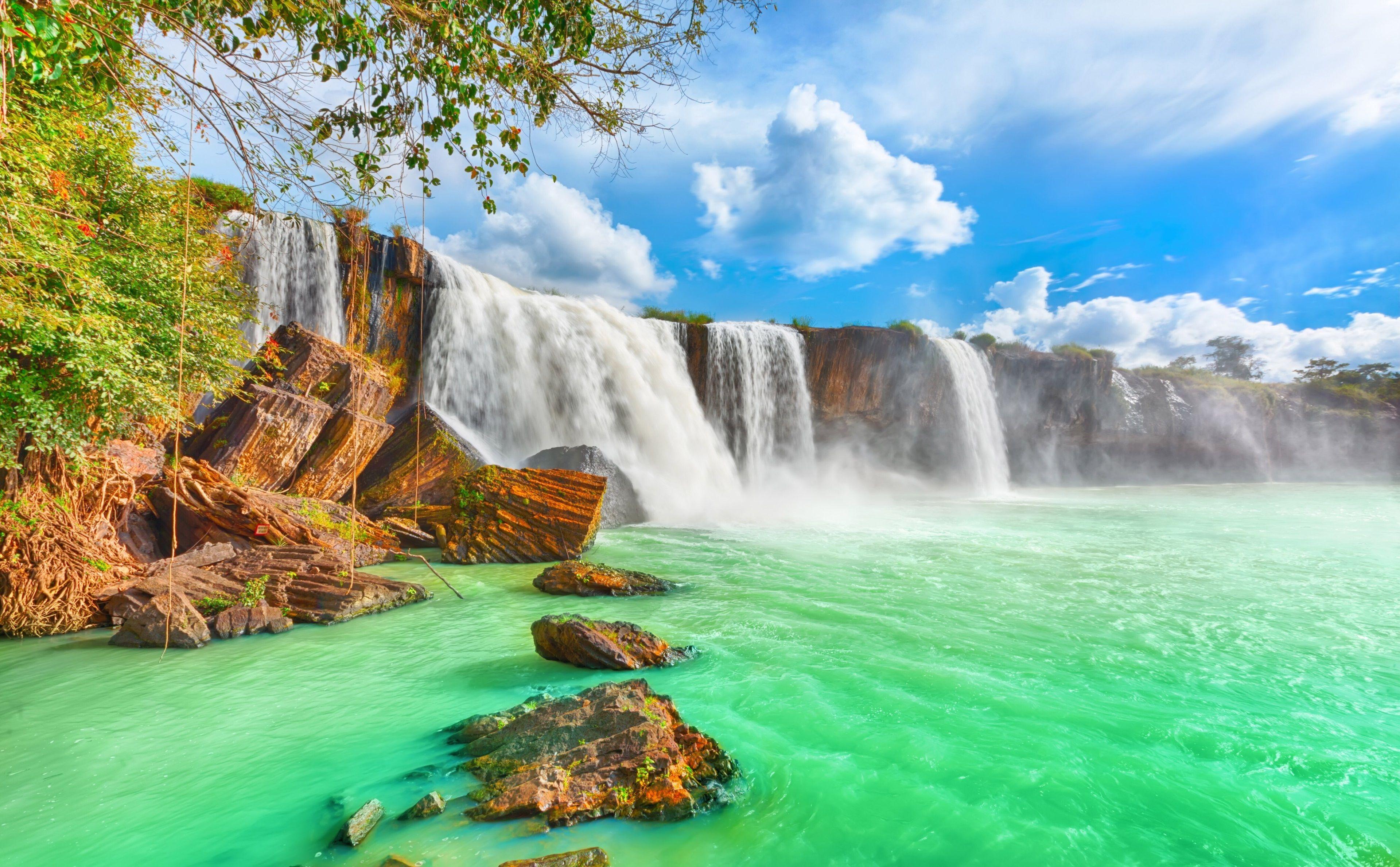 3840x2378 Waterfall 4k Wallpaper Desktop Free Waterfall Wallpaper Waterfall Waterfall Wall