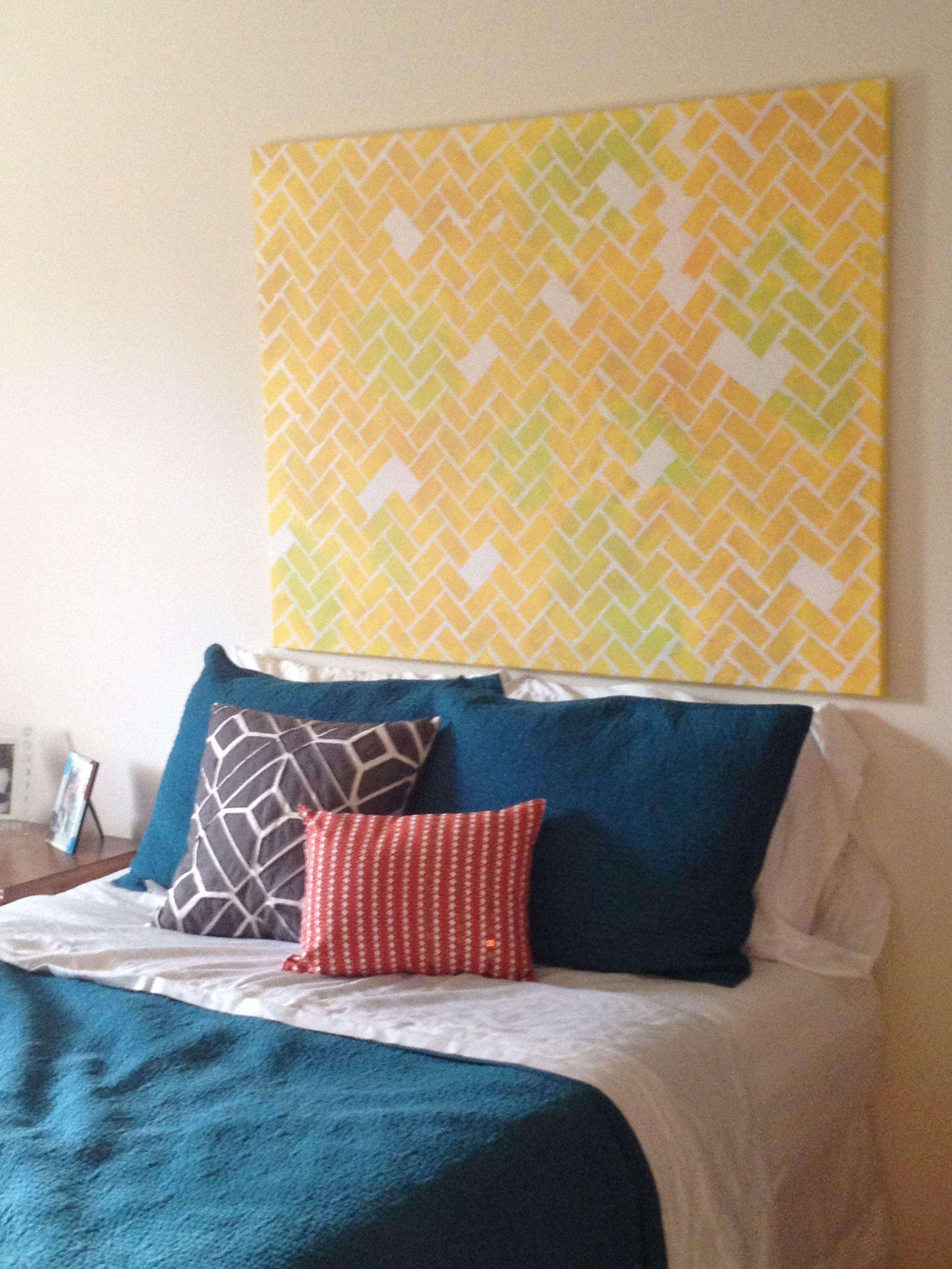 My own DIY canvas headboard | Things I Love | Pinterest | Canvas ...