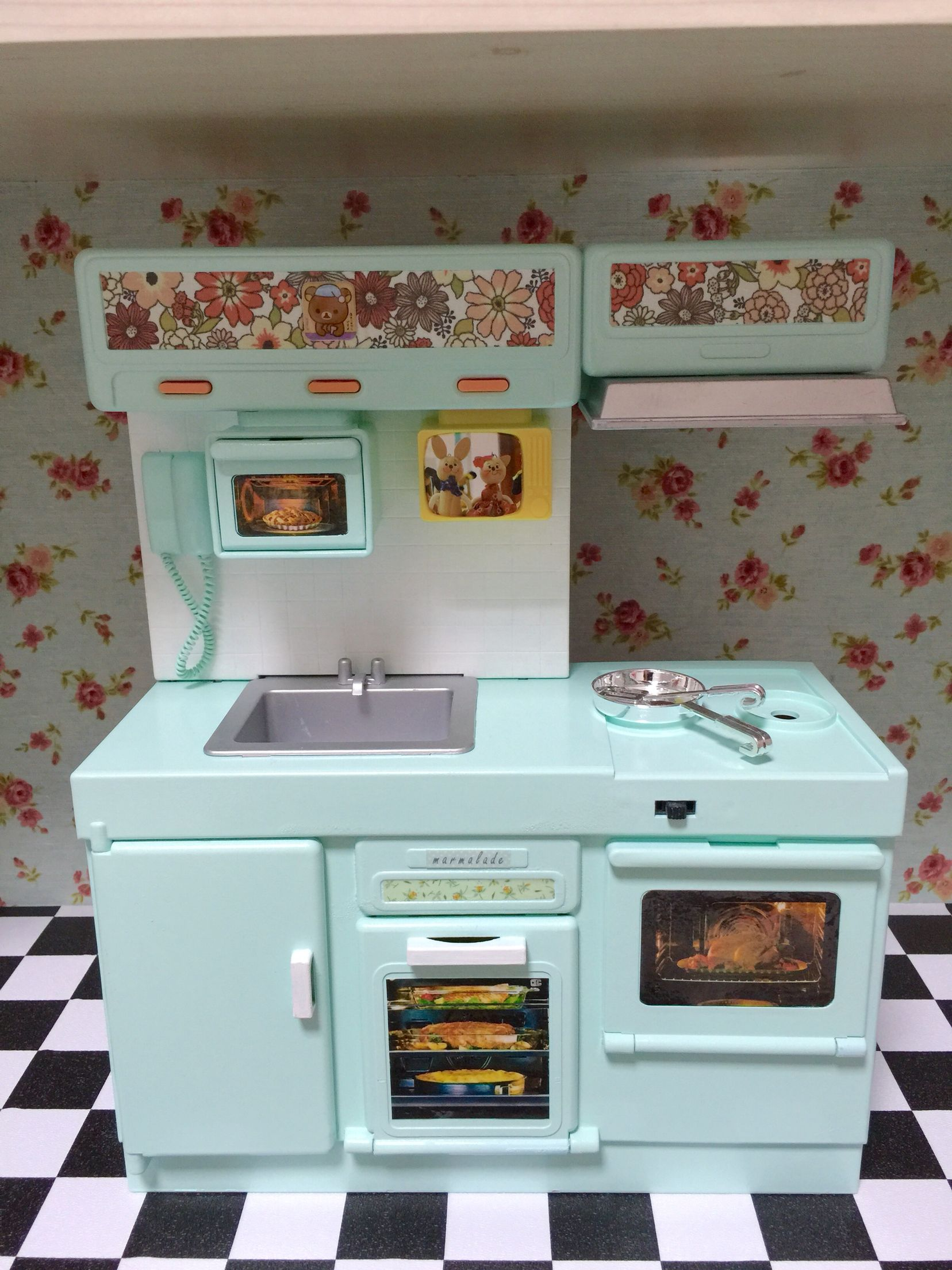 doll kitchen make over | seha\'s dollhouse | Pinterest | Dolls