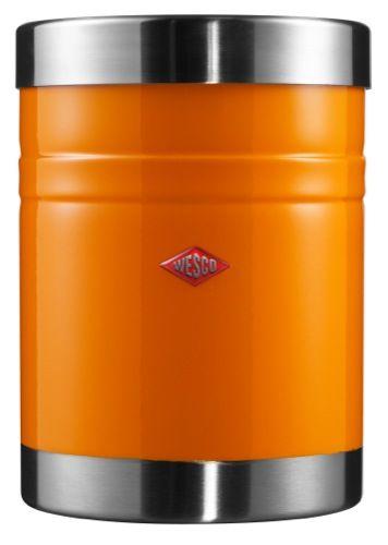 Wesco Kickmaster Classic Oranje.Wesco Classic Line Voorraadbus Oranje Keukenaccessoires