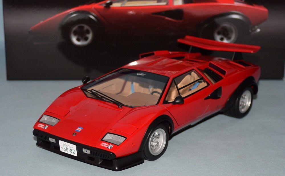 Kyosho 1 18 Kyosho Original Die Cast Lamborghini Countach Lp500s Ww Red 08 Lamborghini Countach Diecast Toy Vehicles