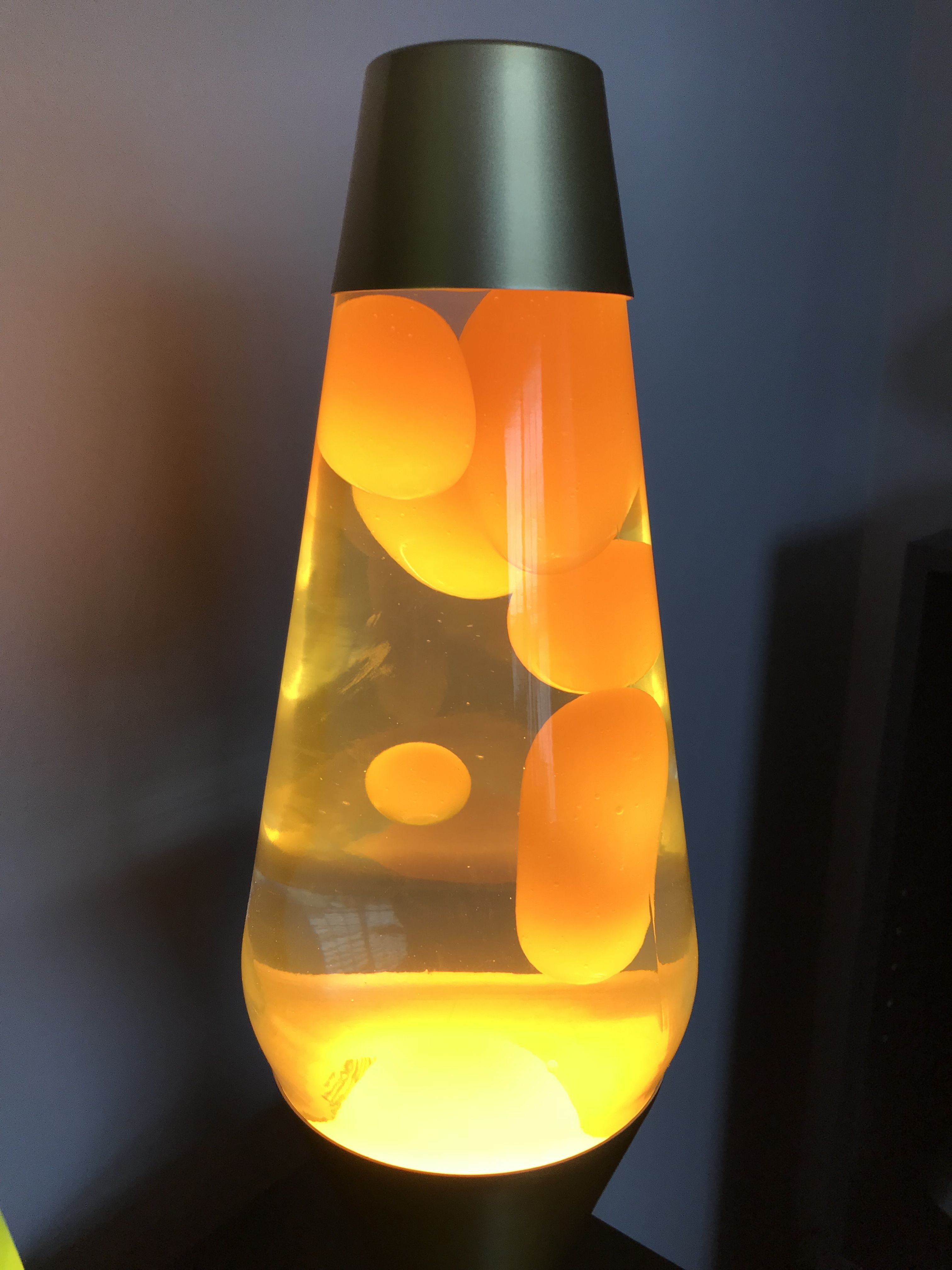 Premier Lava Lamp Yellow Wax And Clear Liquid On A Gold Base Lavalamp Lava Lamp Lamp Halogen Lamp