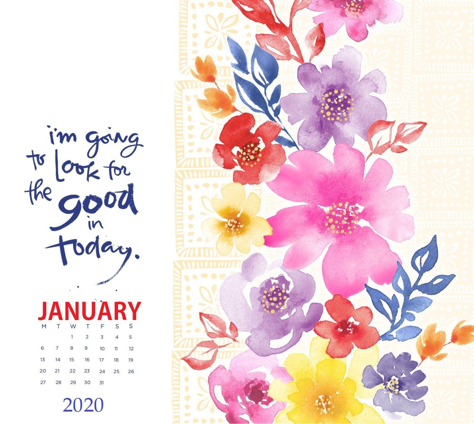 iPhone January 2020 Wallpaper Calendar Calendar design