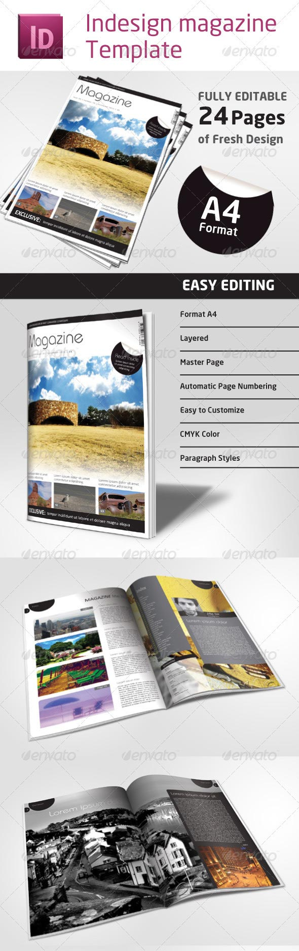 3 magazine layouts 10 Beautiful Magazine Layout Templates for ...