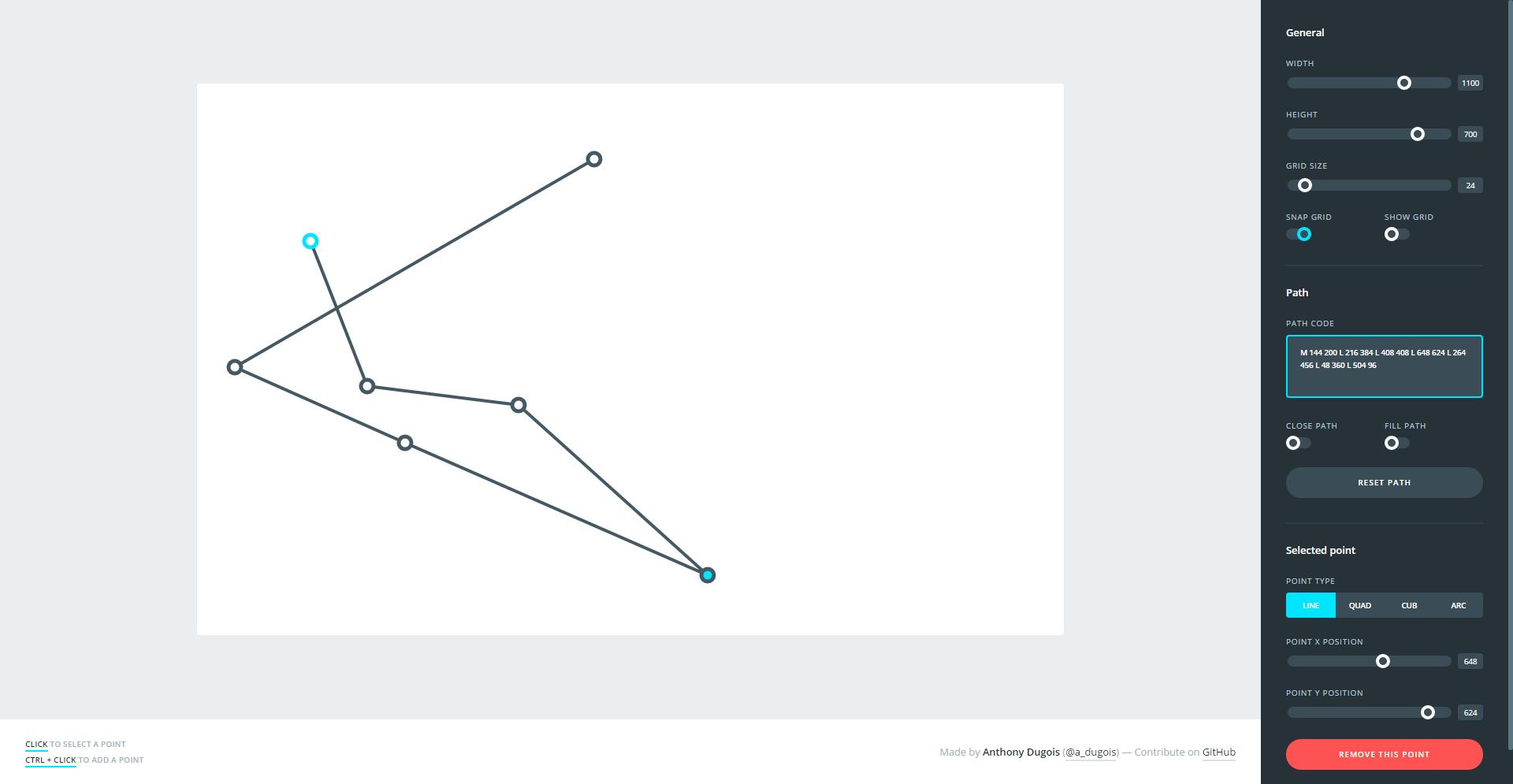 SVG Path Builder | Power User | Diagram, Chart, Line chart