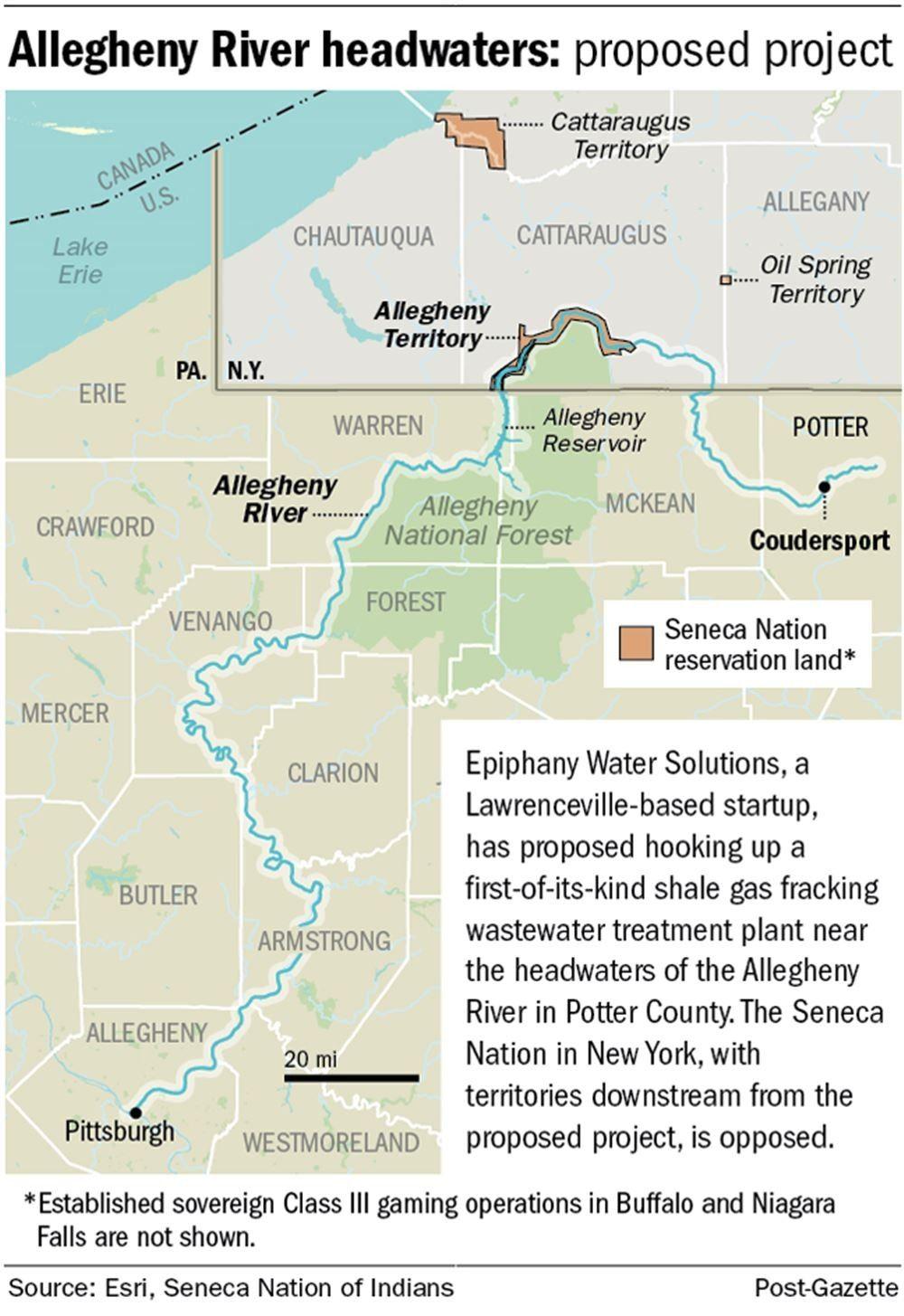 Allegheny River headwaters in 2020 Headwaters