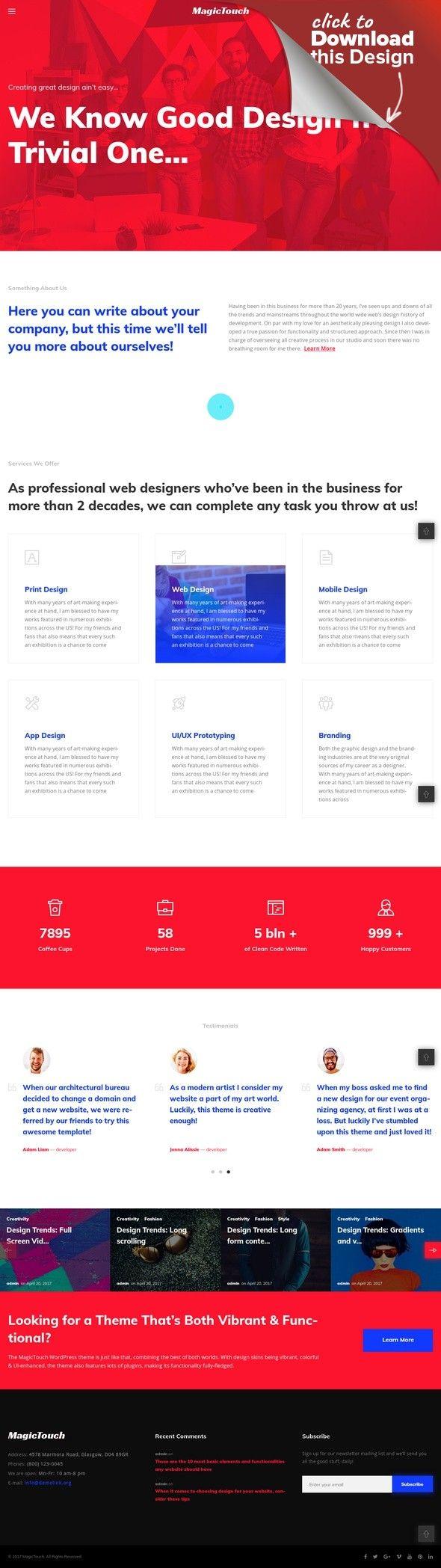 Tema de WordPress para Sitio de Desarrollo web Plantillas para CMS y ...