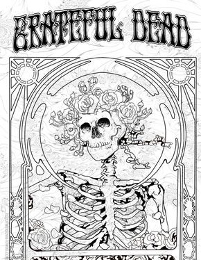 Grateful Dead Coloring Pages : grateful, coloring, pages, Board