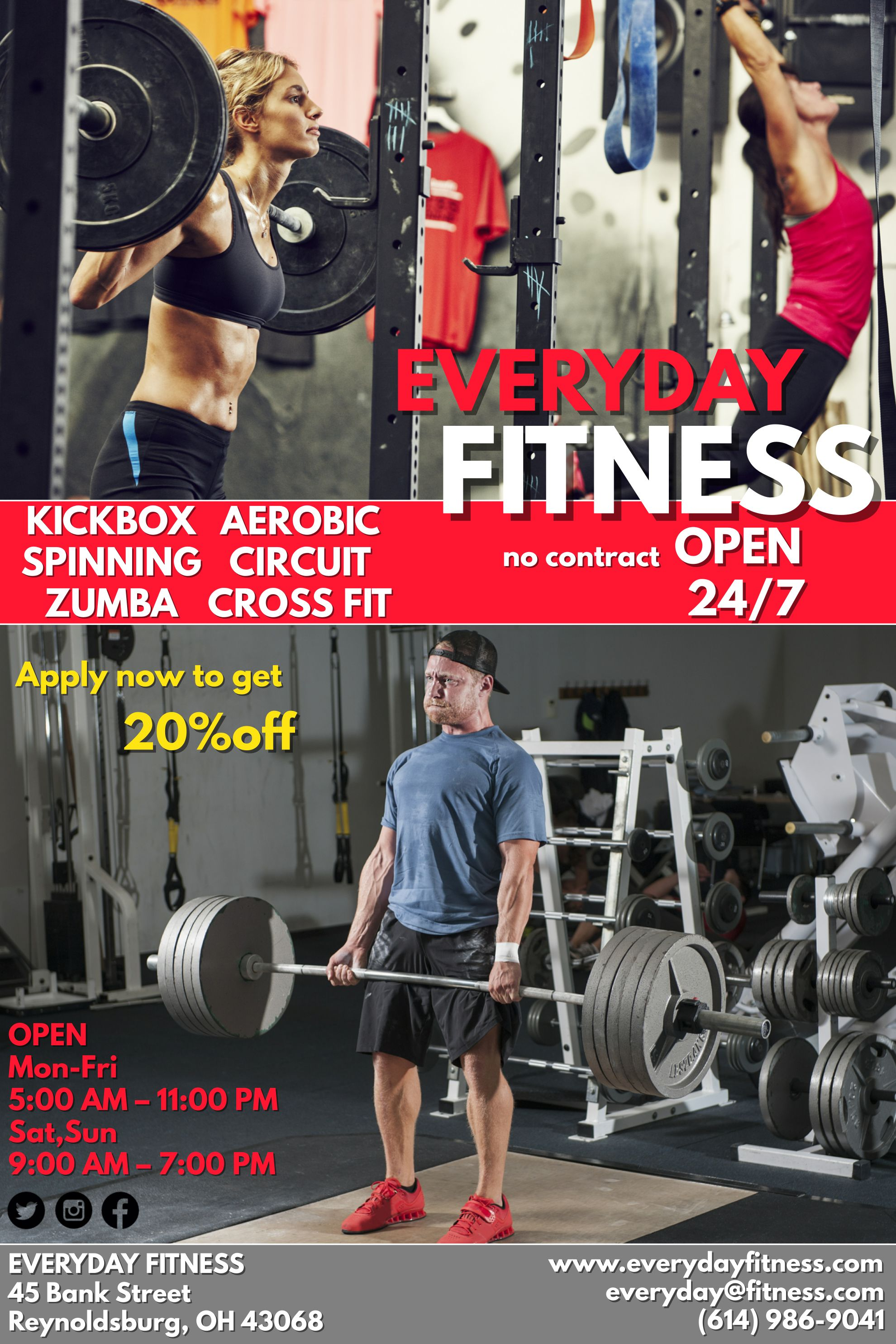 Red Fitness Poster Flyer Social Media Graphic Design Template Fitness Flyer Workout Posters Fitness