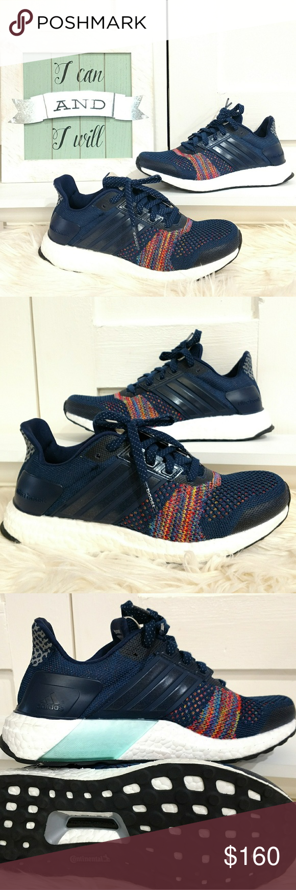 5613479ebb109 Adidas ULTRA BOOST ST limited multicolor Unisex Adidas Ultra Boost ST  limited Collegiate Navy with multicolor