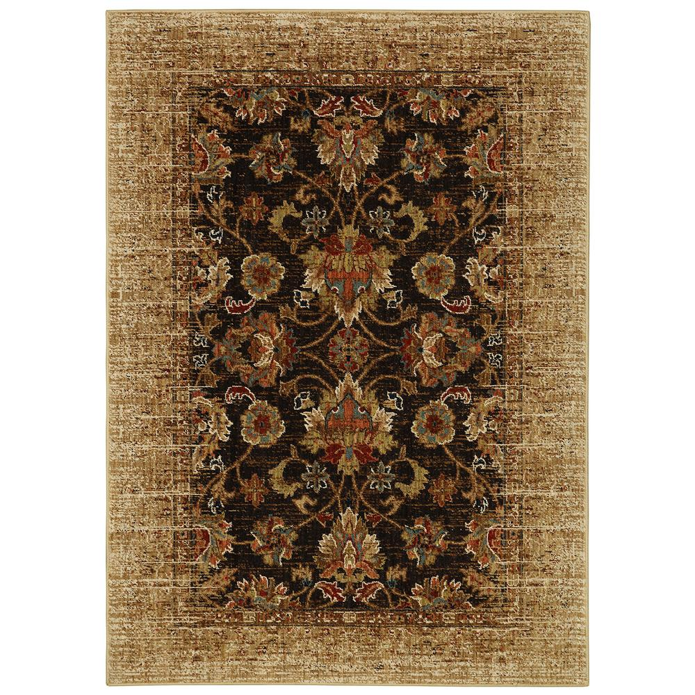 Karastan Studio Wanderlust Spree Gold 5.3 ft. x 7.8 ft. Area Rug
