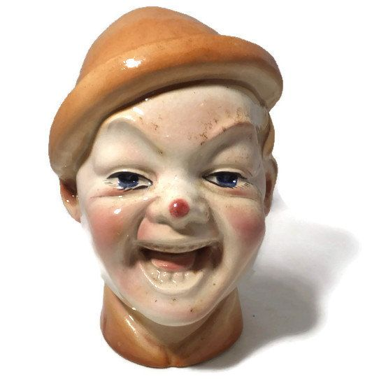 ☺Ð #Vintage Garnier Decanter - Garnier Enghien French Pottery Laughing Man Figurine, http://etsy.me/2e4cvLx
