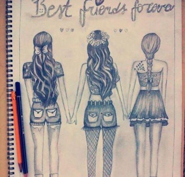 Best Friends Forever Best Friend Drawings Bff Drawings Cute