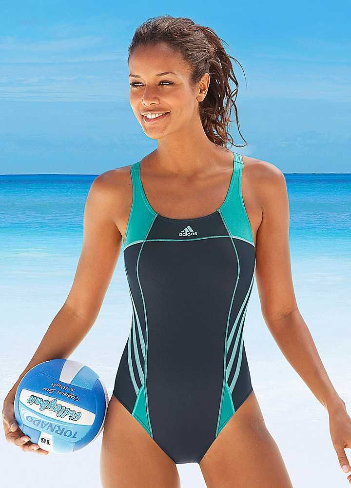adidas Performance Mint Swimsuit- I love it when modest stuff is cute