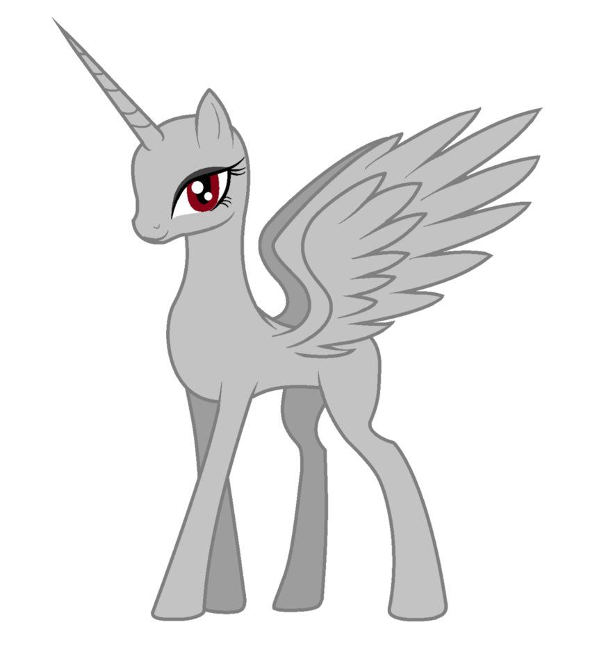 An Alicorn Base For Ms Paint By Chaostrical Mlp Savior Of The