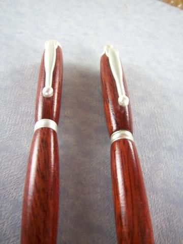 Handcrafted Wooden Pen Pencil set Hand turned Blood Wood 135E by MikesPenTurningZ for $58.50