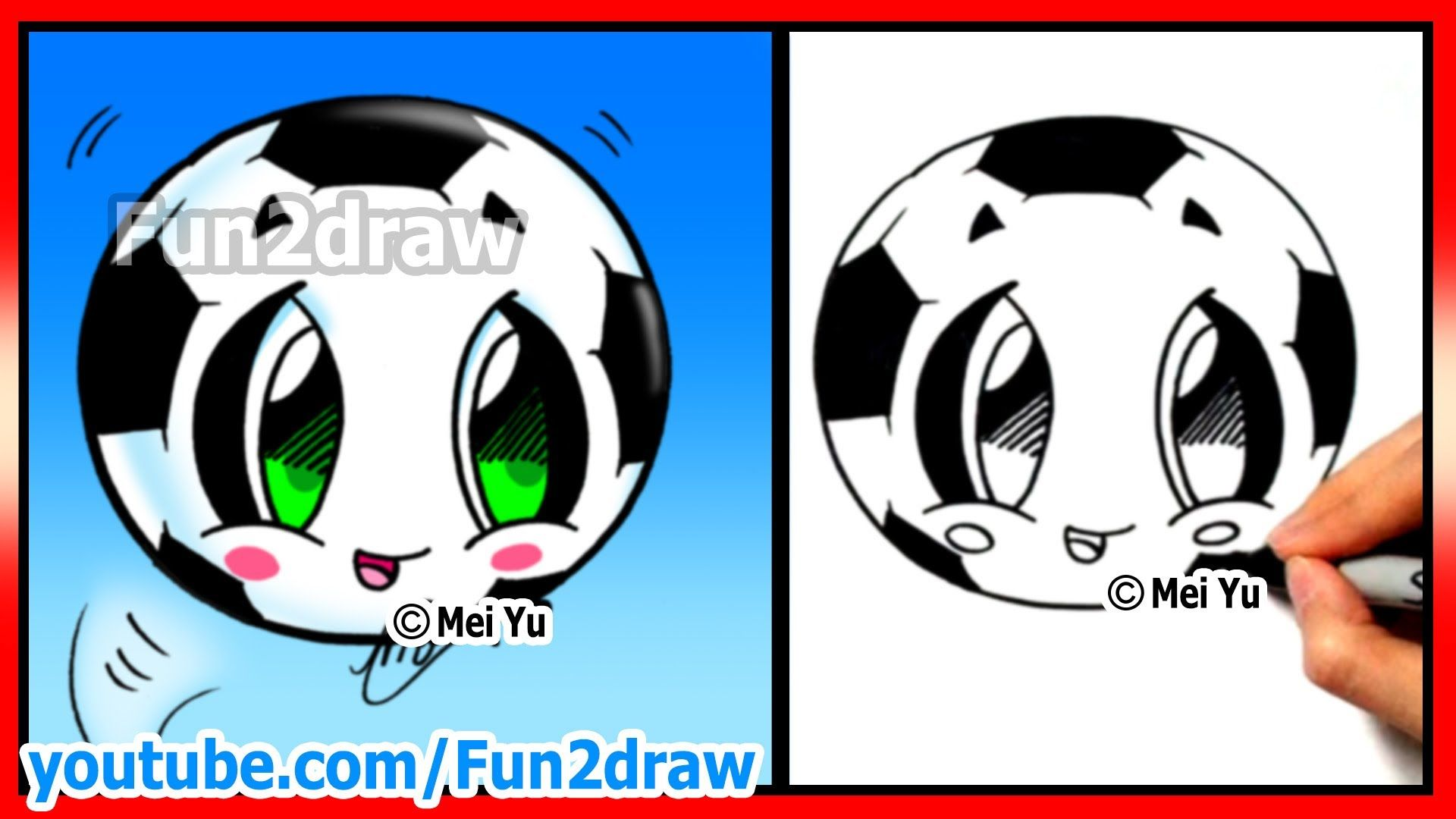 How to draw soccer ball football fifa world cup