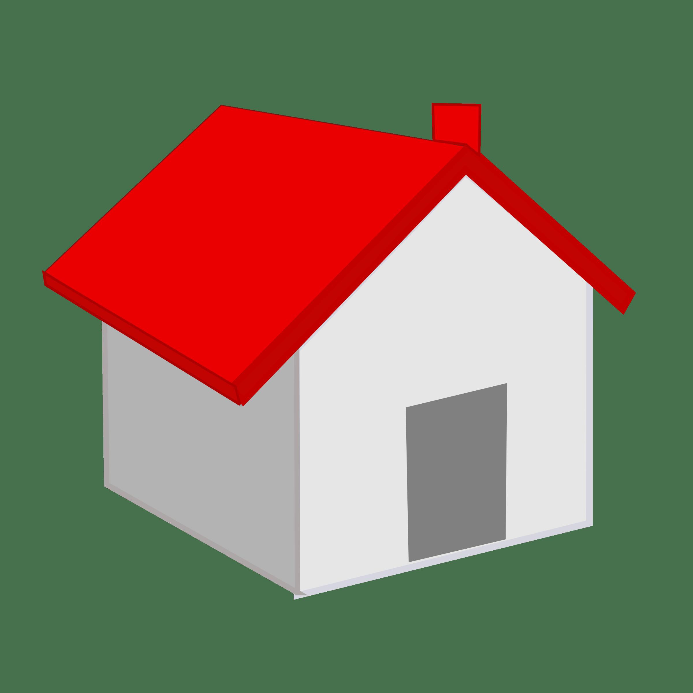 Icono Casa Con Techo Rojo Techo Rojo Casas Imagenes De Casas