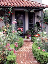 FrontYard Rose Garden Plan is part of Rose garden Plans - Dress up your front yard  and front door  with this garden plan full of beautiful roses