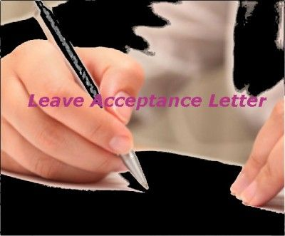How to Write Leave Acceptance Letter #stepbystep Books - acceptance letter sample