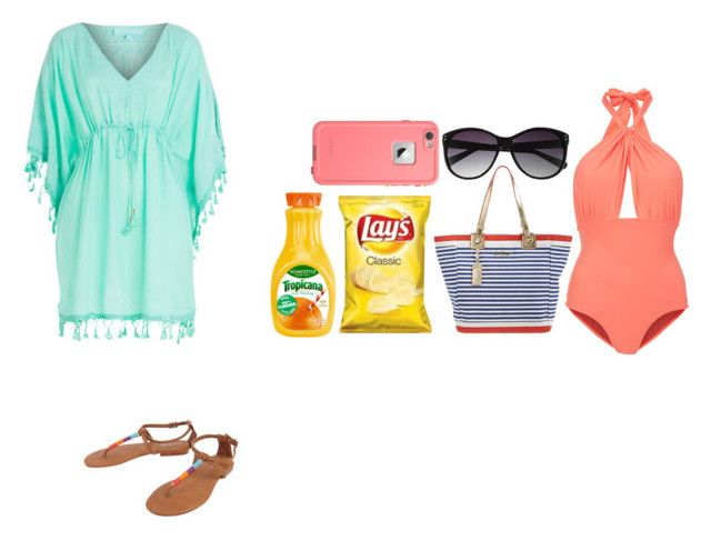 """""""Beach day"""" by crazylove71 ❤ liked on Polyvore featuring Melissa Odabash, Lilliput & Felix, Cocobelle, Lilly Pulitzer, LifeProof and Vince Camuto"""