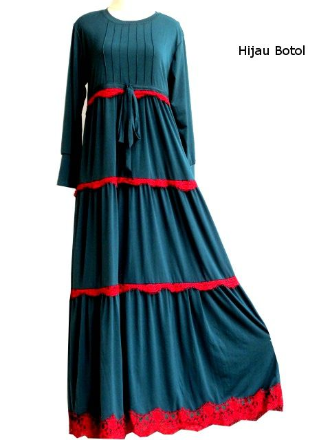 Gamis Umbrella Bertingkat Renda Dresses Pinterest Dresses