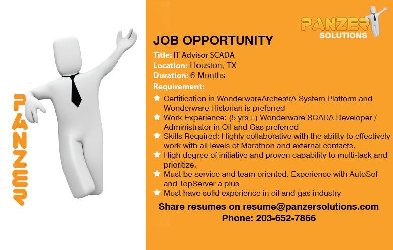 It advisor scada job opportunities business analyst