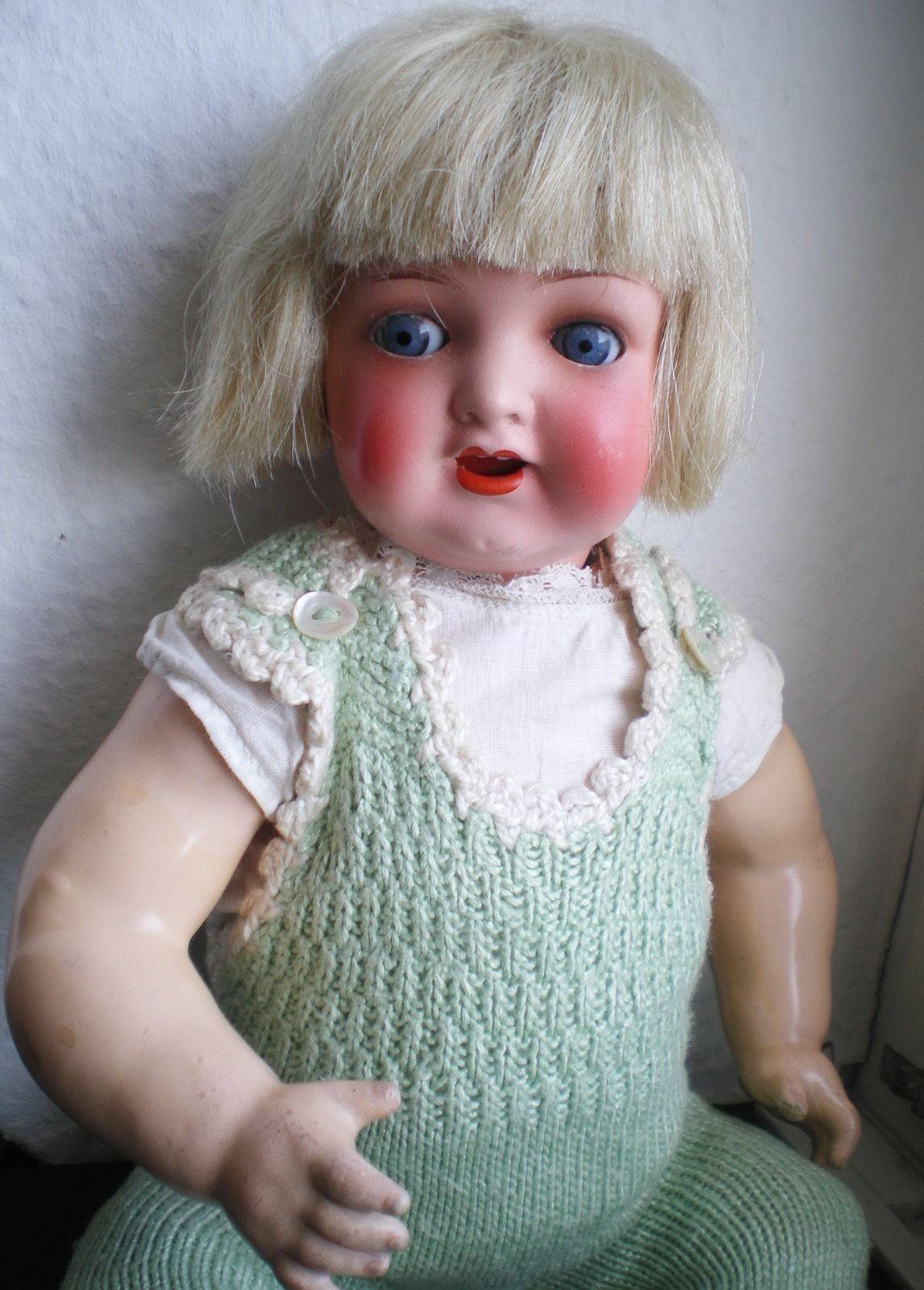 Süße alte Heubach Köppelsdorf Baby Puppe Porzellankopf, old german doll | eBay