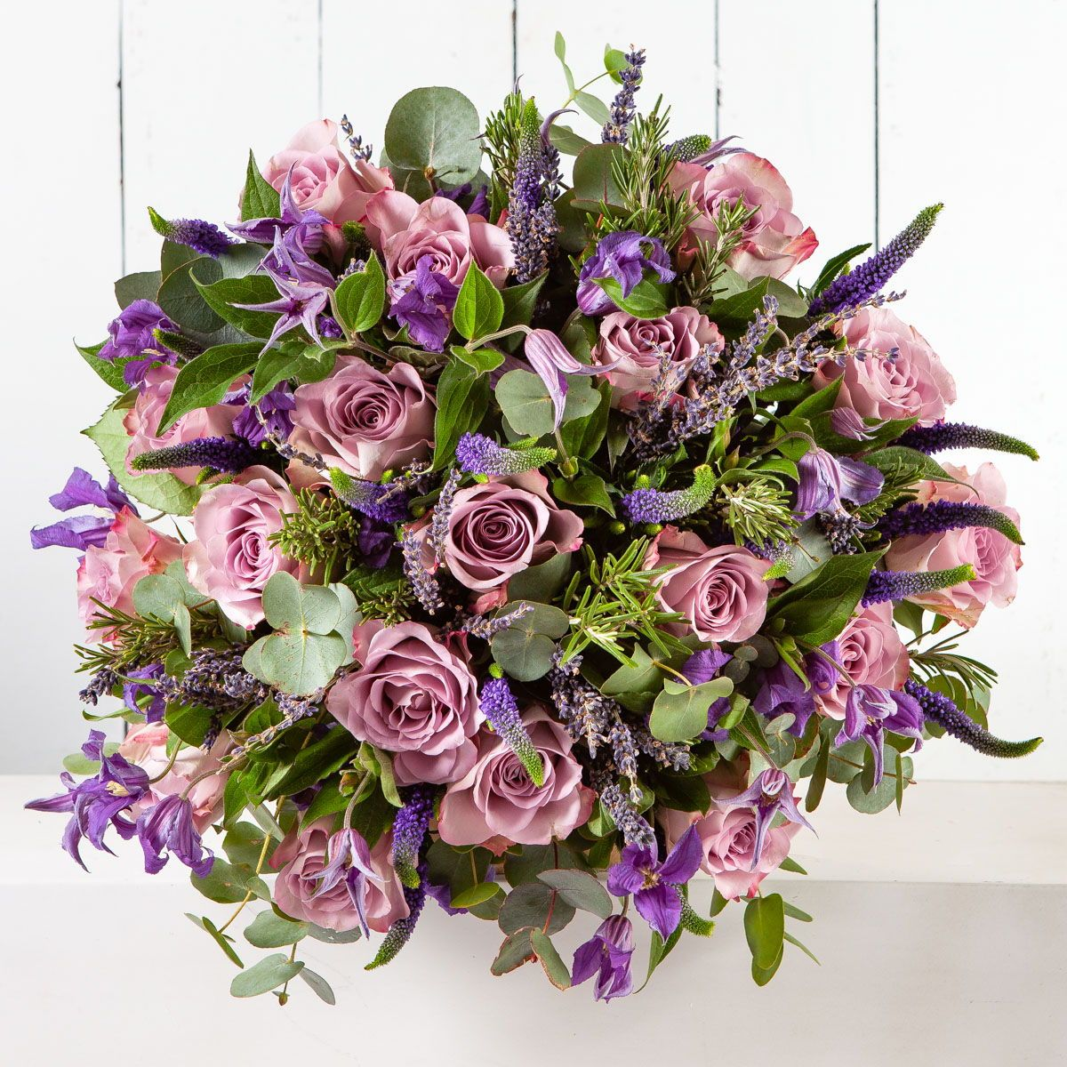 Lilac Toned Valentines Bouquet With Lilac Roses From Our Floral Love Potion Range With Images Flower Service Funeral Flowers Same Day Flower Delivery