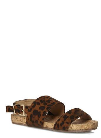 273cf3dcedab Brown Leopard Print Footbed Sandals | Fashion | Brown leopard ...