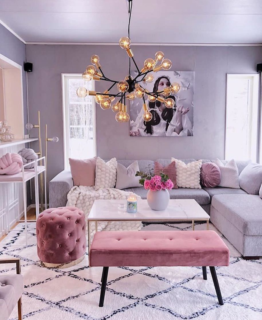 So Cute By Lookwhatinspiresme Notmyphoto Modernhome Modernarchitecture Moderndesig Pink Living Room Living Room Decor Apartment Elegant Living Room