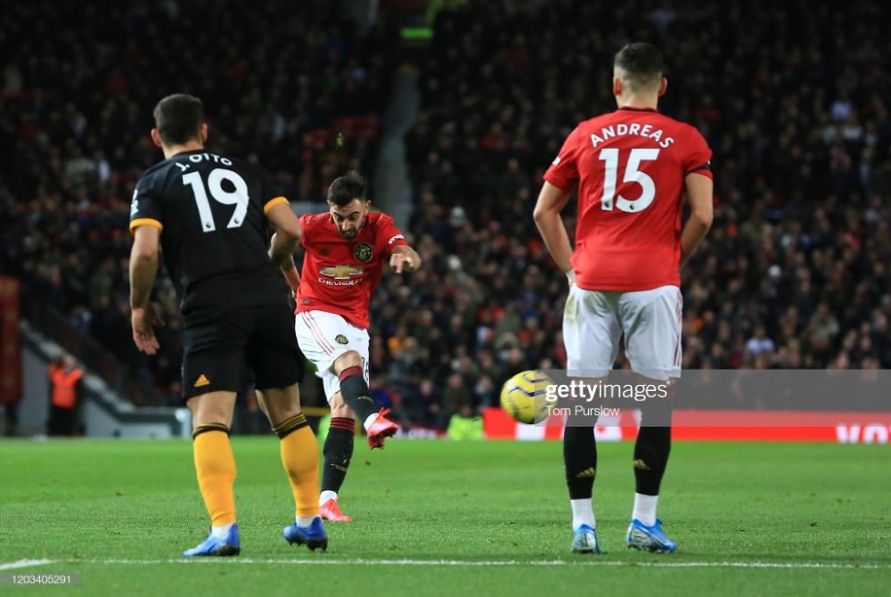 Bruno Fernandes Of Manchester United In Action During The Premier In 2020 Manchester United Manchester Premier League Matches