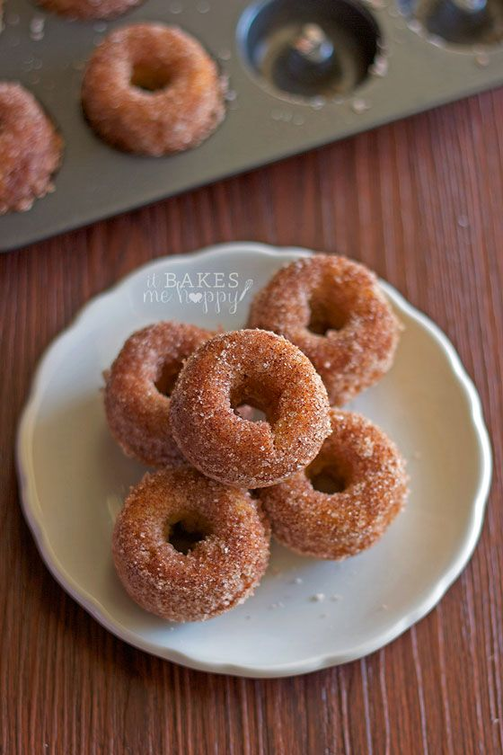 Apple Cider Mini Donuts are loaded with apple cinnamon flavors, baked to perfection and coated with an irresistible cinnamon sugar crust.
