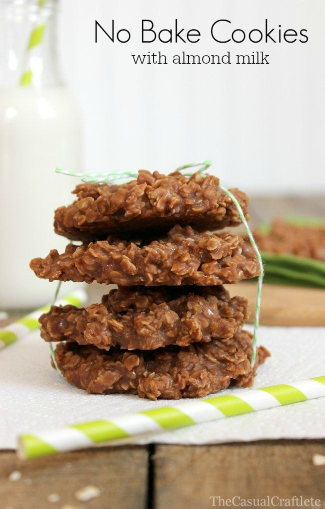 No Bake Cookies with Almond Milk