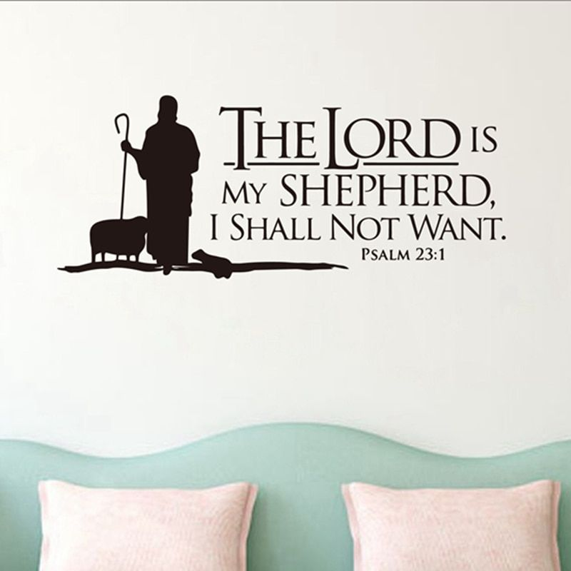 Cheap Wall Stickers Buy Directly From China Suppliers Psalms 23 The Lord Is My Shepherd Wall Lettering Mural Bible Verse Wall Art Letter Wall Bible Verse Wall